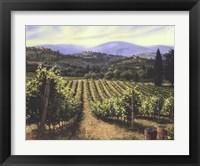 Framed Tuscany Vines