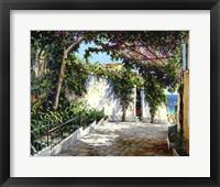 Framed Positano Sunlight