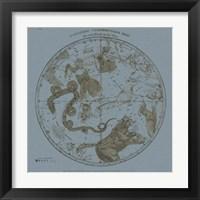 Framed Northern Circumpolar Map