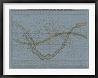 Framed Celestial Planisphere