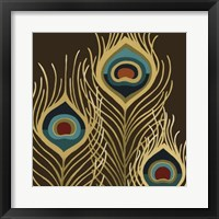 Peacock Trilogy I Framed Print