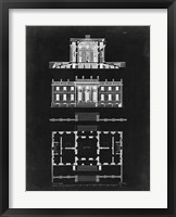 Framed Graphic Building & Plan IV