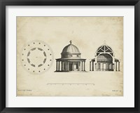 Building Section and Plan II Framed Print