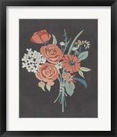 Coral Bouquet II Framed Print