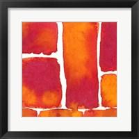 Saturated Blocks II Framed Print