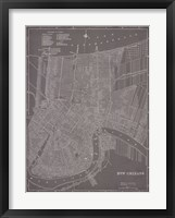 Framed City Map of New Orleans