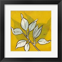 Framed Gold Batik Botanical I