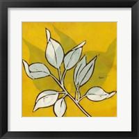 Framed Gold Batik Botanical I