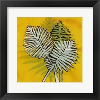 Framed Gold Batik Botanical III