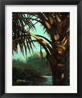 Framed Dark Palm