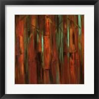 Sunset Bamboo I Framed Print