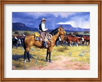 Framed Great American Cowboy
