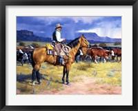 Framed Great American Cowboy
