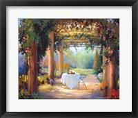Framed Vino al Fresco