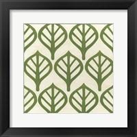 Framed Cottage Leaves II