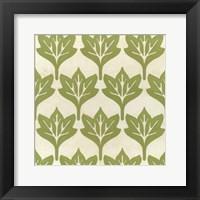 Framed Cottage Leaves IV