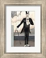 Framed Art Deco Gentleman