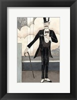 Framed Art Deco Gentleman