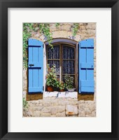 Framed Blue Shutters