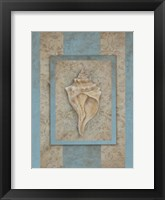 Framed Shell & Damask Stripe II