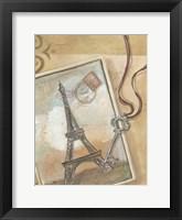 Paris Memories I Framed Print