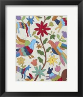 Framed Otomi Embroidery I
