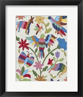 Framed Otomi Embroidery II