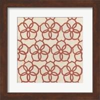 Framed Floral Trellis II