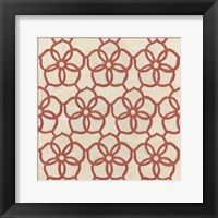 Floral Trellis II Framed Print