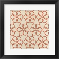 Framed Floral Trellis VIII