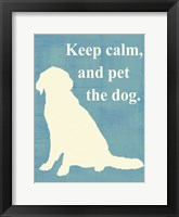 Framed Keep calm and pet the dog