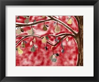 Framed Red Pear Tree