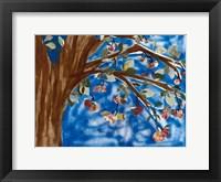 Framed Blue Apple Tree