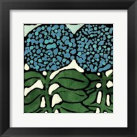 Teal Batik Botanical V Framed Print