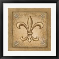 Framed Fleur de Lis - Gold