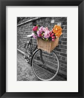 Framed Basket of Flowers II