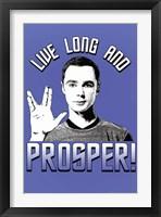 Framed Big Bang Theory - Live Long