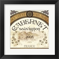 Framed Wine Labels I