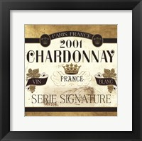 Wine Labels II Framed Print