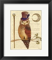 Framed Steampunk Owl II