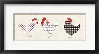 Roosters Panel II Framed Print
