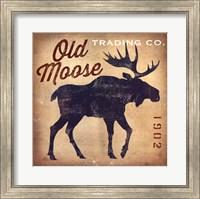 Framed Old Moose Trading Co. Tan