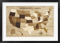 Framed USA Modern Vintage Wood
