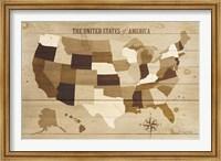 Framed USA Modern Vintage Wood