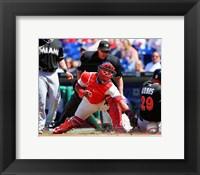 Framed Carlos Ruiz Baseball Tag