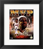 Framed LeBron James 2013 NBA Finals MVP Portrait Plus