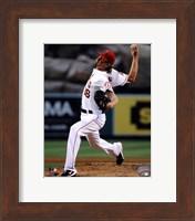 Framed Jered Weaver 2013 Pitching