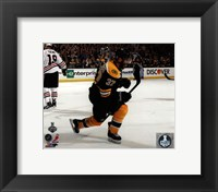 Framed Patrice Bergeron Goal Celebration Game 3 of the 2013 Stanley Cup Finals