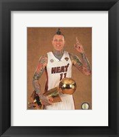 Framed Chris Andersen with the NBA Championship Trophy Game 7 of the 2013 NBA Finals