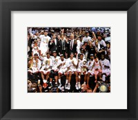 Framed Miami Heat Celebrate Winning Game 7 of the 2013 NBA Finals